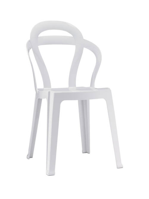 Silla polipropileno blanco mobiliario ideal